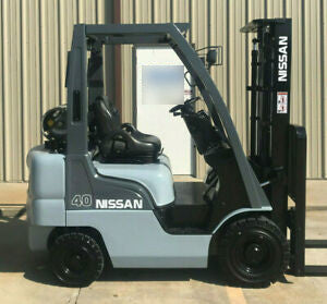 2008 NISSAN MP1F1A20LV 4000 LB LP GAS FORKLIFT PNEUMATIC TIRE 84/130 2 STAGE MAST 2425 HOURS STOCK # 12116-268826-ARB - united-lift-equipment