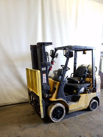 "2011 CATERPILLAR C5000 5000 LB LP GAS FORKLIFT CUSHION 83/188"" 3 STAGE MAST SIDE SHIFTER 17230 HOURS STOCK # BF9219359-NCB"