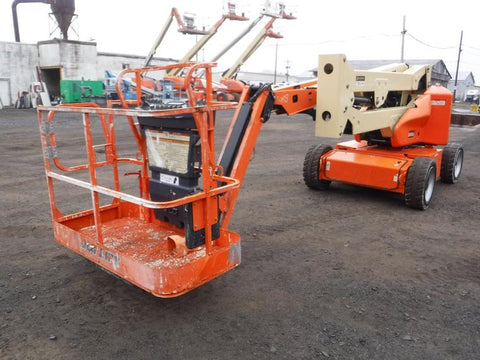 2016 JLG E450AJ ARTICULATING BOOM LIFT AERIAL LIFT WITH JIB ARM 45' REACH ELECTRIC 824 HOURS STOCK # BF9362229-NLEQ - United Lift Used & New Forklift Telehandler Scissor Lift Boomlift