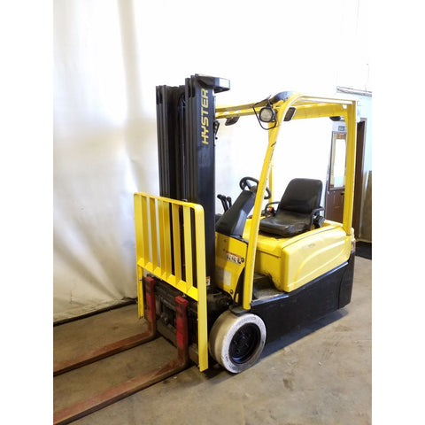 2012 HYSTER J35XNT 3500 LB 48 VOLT ELECTRIC FORKLIFT CUSHION 84/192 3 STAGE MAST SIDE SHIFTER STOCK # 21203-NCB