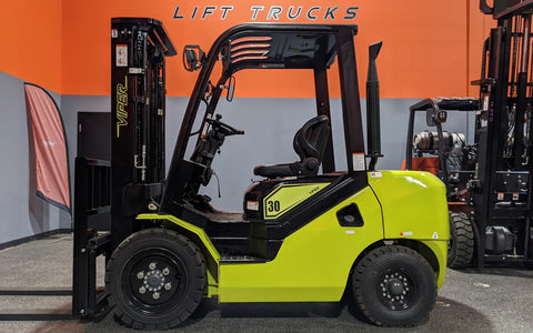 "2021 VIPER FY30 6000 LB DIESEL FORKLIFT PNEUMATIC 88/189"" 3 STAGE MAST SIDE SHIFTER BRAND NEW STOCK # BF9223899-ILIL - United Lift Used & New Forklift Telehandler Scissor Lift Boomlift"