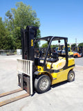 "2008 YALE GLP080VX 8000 LB LP GAS FORKLIFT PNEUMATIC 100/218"" 3 STAGE MAST SIDE SHIFTER 8228 HOURS STOCK # BF9219649-NCB"