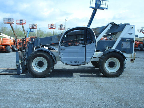 2005 TEREX TH644C 6000 LB DIESEL TELESCOPIC FORKLIFT TELEHANDLER PNEUMATIC 4WD ENCLOSED CAB 4787 HOURS STOCK # BF9290609-BATNY
