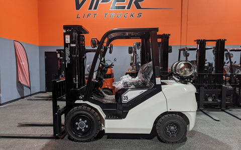 "2021 VIPER FY35 8000 LB LP GAS FORKLIFT PNEUMATIC 89/189"" 3 STAGE MAST SIDE SHIFTER BRAND NEW STOCK # BF9284729-ILIL"