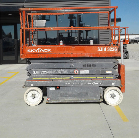 2012 SKYJACK SJIII3226 SCISSOR LIFT 26' REACH ELECTRIC CUSHION TIRES 231 HOURS STOCK # BF963409-CEIL - United Lift Used & New Forklift Telehandler Scissor Lift Boomlift