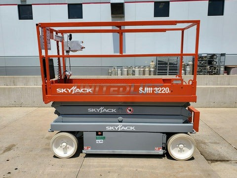 2008 SKYJACK SJDIII-3220 SCISSOR LIFT 20' REACH ELECTRIC SMOOTH CUSHION TIRES 262 HOURS STOCK # BF9716599-RIL