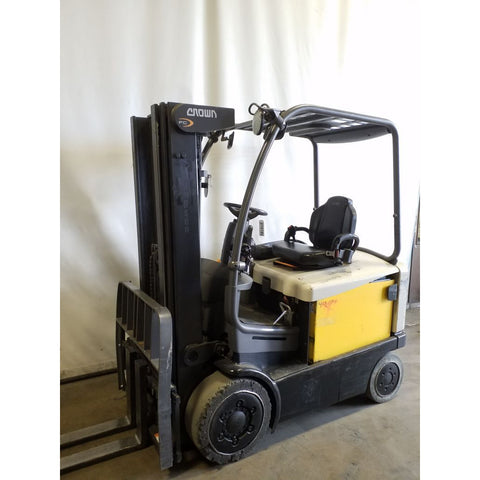 2014 CROWN FC4525-50TT 5000 LB ELECTRIC FORKLIFT CUSHION 85/188 3 STAGE MAST SIDE SHIFTER 7258 HOURS STOCK # 21618-NCB - United Lift Used & New Forklift Telehandler Scissor Lift Boomlift