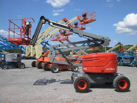 2014 SKYJACK SJ46AJ ARTICULATING BOOM LIFT AERIAL LIFT WITH JIB ARM 46' REACH DIESEL 4WD 1232 HOURS STOCK # BF9480869-HLNY