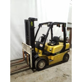 2007 YALE GLP050VX 5000 LB LP GAS FORKLIFT PNEUMATIC 90/200 3 STAGE MAST SIDE SHIFTER 8700 HOURS STOCK # 21365-NCB