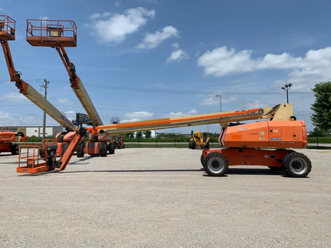 2012 JLG 860SJ STRAIGHT BOOM LIFT AERIAL LIFT WITH JIB ARM 86' REACH DIESEL 4WD 3537 HOURS STOCK # BF924518-RIL