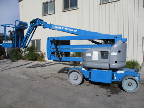 2008 GENIE Z40/23NRJ 500 LBS ELECTRIC ARTICULATING BOOM LIFT 40′ REACH CUSHION 1527 HOURS STOCK # BF9175479-ACCA