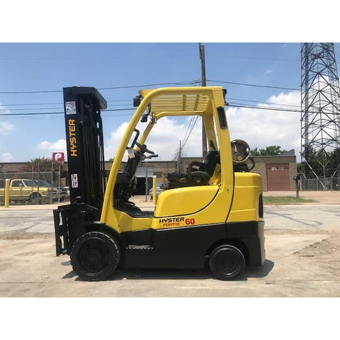 2015 HYSTER S60FT 6000 LB LP GAS FORKLIFT CUSHION 87/175 3 STAGE MAST SIDE SHIFTER STOCK # BFA0226-PRTX