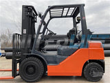 "2010 TOYOTA 8FGU25 5000 LB LP GAS FORKLIFT PNEUMATIC 131"" 2 STAGE MAST SIDE SHIFTER 5390 HOURS STOCK # BF9283819-RIL2"