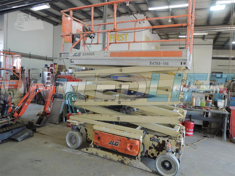 2005 JLG 3246ES SCISSOR LIFT 32' REACH ELECTRIC SMOOTH CUSHION TIRES 127 HOURS STOCK # BF9385219-DBUF