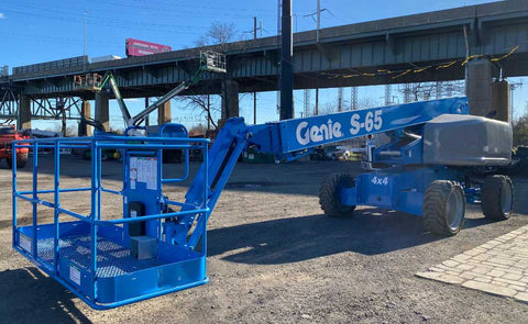 2011 GENIE S65 TELESCOPIC BOOM LIFT AERIAL LIFT STRAIGHT WITH JIB ARM 65' REACH DIESEL 3402 HOURS STOCK # BF9348759-NLEQ