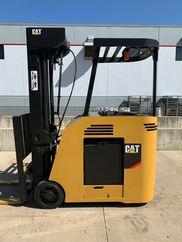 2014 CATERPILLAR FB20NS 4000 LB ELECTRIC FORKLIFT CUSHION 95/276 QUAD MAST SIDE SHIFTER STOCK # BF9604249-RIL