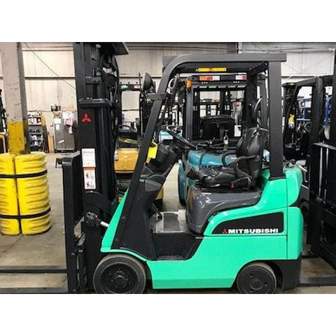 2013 MITSUBISHI FGC15N 3000 LB LP GAS FORKLIFT CUSHION 89/201 3 STAGE MAST SIDE SHIFTER STOCK # BF34622-DPKN