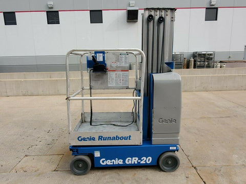 2008 GENIE GR20 350 LBS PERSONNEL LIFT 20′ REACH CUSHION 351 HOURS STOCK # BF9161309-RIL