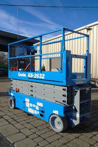 2012 GENIE GS2632 SCISSOR LIFT 26' REACH ELECTRIC SMOOTH CUSHION TIRES 245 HOURS STOCK # BF991359-NLEQ