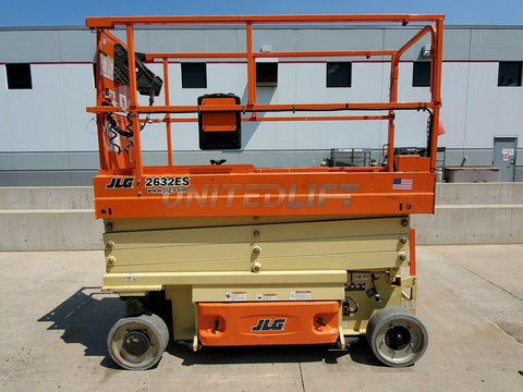 2016 JLG 2632ES SCISSOR LIFT 500 LB 26' REACH ELECTRIC WITH DECK EXTENSION 132 HOURS STOCK # BF9945799-RIL