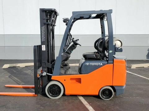 "2017 TOYOTA 8FGCSU20 4000 LB LP GAS FORKLIFT CUSHION 82/189"" 3 STAGE MAST SIDE SHIFTER 3289 HOURS STOCK # BF9257139-RIL - United Lift Equipment LLC"