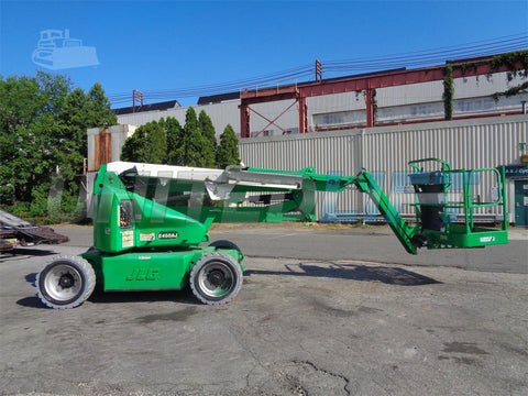 2011 JLG E450AJ ARTICULATING BOOM LIFT AERIAL LIFT WITH JIB ARM 45' REACH ELECTRIC 913 HOURS STOCK # BF9443789-ESPA