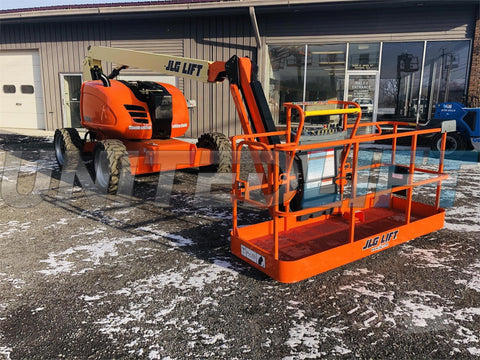2019 JLG 600AJ ARTICULATING BOOM LIFT AERIAL LIFT WITH JIB 60' REACH DIESEL 4WD 144 HOURS STOCK # BF9895309-BATNY