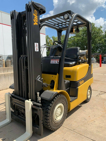 2013 YALE GLP040SV 4000 LB LP GAS FORKLIFT PNEUMATIC 78/169 3 STAGE MAST SIDE SHIFTER STOCK # BF983217-RIL