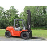 2002 TOYOTA 7FDU70 15000 LB DIESEL FORKLIFT PNEUMATIC 128/180 2 STAGE MAST DUAL TIRES 8699 HOURS STOCK # BF65190-DPA - united-lift-equipment