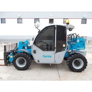 2013 GENIE GTH5519 5500 LB DIESEL TELESCOPIC FORKLIFT TELEHANDLER PNEUMATIC 4WD 1678 HOURS STOCK # BF750033-RIL