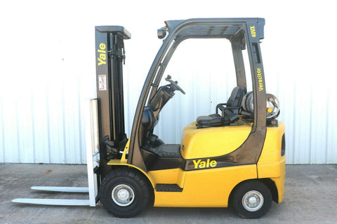 2007 YALE GLP040 4000 LB LP GAS FORKLIFT PNEUMATIC 84/130 2 STAGE MAST 2540 HOURS STOCK # 10187-511919-ARB