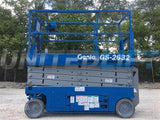 2007 GENIE GS2632 SCISSOR LIFT 26' REACH ELECTRIC SMOOTH CUSHION TIRES STOCK # BF9GEN26329-RIL2