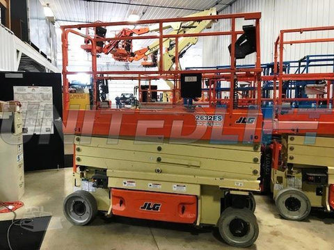 2016 JLG 2632ES SCISSOR LIFT 500 LB 26' REACH ELECTRIC WITH DECK EXTENSION STOCK # BF9129139-RHWI