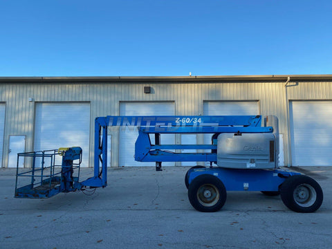 2008 GENIE Z60/34 ARTICULATING BOOM LIFT AERIAL LIFT 60' REACH DIESEL 3248 HOURS STOCK # BF9249699-RIL