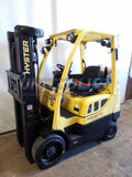 2015 HYSTER S50FT 5000 LB LP GAS FORKLIFT CUSHION 83/189 3 STAGE MAST 8782 HOURS STOCK # BF9215439-NCB