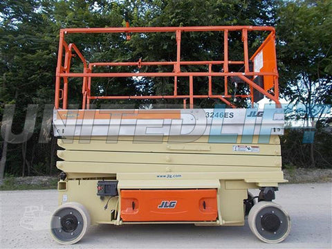 2008 JLG 3246ES SCISSOR LIFT 32' REACH ELECTRIC SMOOTH CUSHION TIRES 290 HOURS STOCK # BF9JLG32469-RIL2
