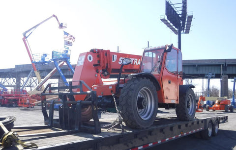 2012 SKYTRAK 8042 8000 LB DIESEL TELESCOPIC FORKLIFT TELEHANDLER PNEUMATIC 4WD ENCLOSED HEATED CAB 2280 HOURS STOCK # BF9542759-NLEQ - United Lift Used & New Forklift Telehandler Scissor Lift Boomlift