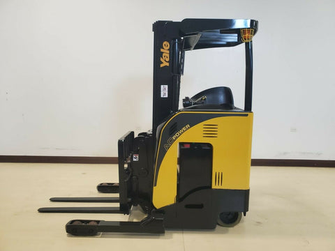 "2018 YALE NDR030EBNM36TE 3000 LB ELECTRIC FORKLIFT 87/191"" 3 STAGE MAST SIDE SHIFTER 745 HOURS STOCK # BF9257439-RIL - United Lift Equipment LLC"