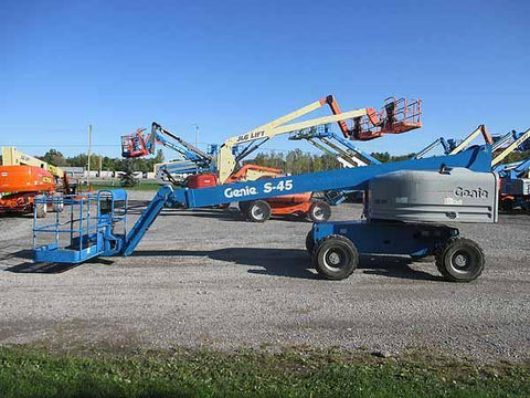 2014 GENIE S45 TELESCOPIC BOOM LIFT AERIAL LIFT 45' REACH DIESEL 4WD 2209 HOURS STOCK # BF9592079-HLNY