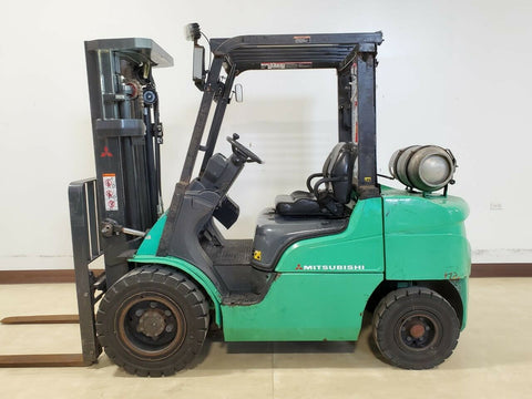 "2016 MITSUBISHI FG30N 6000 LB LP GAS FORKLIFT PNEUMATIC 83/186"" 3 STAGE MAST SIDE SHIFTER 3833 HOURS STOCK # BF9258489-RIL - United Lift Equipment LLC"