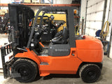 2013 TOYOTA 7FDU45 10000 LB DIESEL FORKLIFT PNEUMATIC 3 STAGE MAST SIDE SHIFTING FORK POSITIONER 1777 HOURS STOCK # BF9261199-ISNY - United Lift Equipment LLC