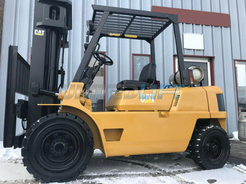 "1997 CATERPILLAR GP40 8000 LB LP GAS FORKLIFT PNEUMATIC 188"" 3 STAGE MAST SIDE SHIFTER 5253 HOURS STOCK # BF9018719-MWWI"