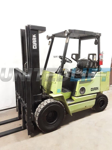 "1998 CLARK GPX25 5000 LB CAPACITY LP GAS FORKLIFT PNEUMATIC 83/188"" 3 STAGE MAST SIDE SHIFTER 2505 HOURS STOCK # BF9226199-NCB"