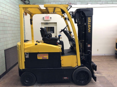 2013 HYSTER E80XN 8000 LB ELECTRIC FORKLIFT CUSHION 88/185 3 STAGE MAST 3002 HOURS STOCK # BF9081799-BEMIN