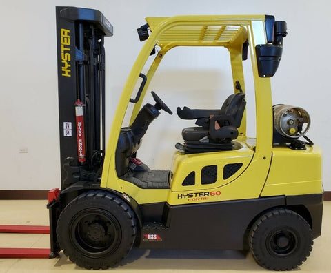 "2014 HYSTER H60FT 6000 LB LP GAS FORKLIFT PNEUMATIC 90/187"" 3 STAGE MAST 3862 HOURS STOCK # BF9257029-RIL - United Lift Equipment LLC"