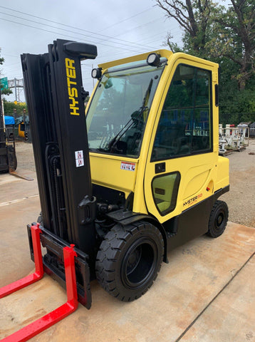 2012 HYSTER H50FT 5000 LB DIESEL FORKLIFT PNEUMATIC 87/189 3 STAGE MAST 5149 HOURS STOCK # BF924664-RIL - United Lift Used & New Forklift Telehandler Scissor Lift Boomlift