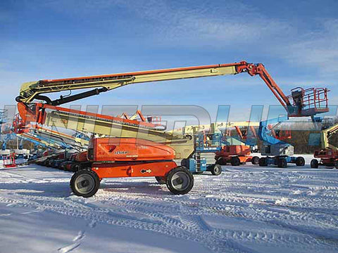 2010 JLG 1250AJP ARTICULATING BOOM LIFT AERIAL LIFT WITH JIB ARM 125' REACH DIESEL 4WD 5643 HOURS STOCK # BF9905609-HLNY