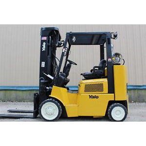 "2006 YALE GLC080 8000 LB LP GAS FORKLIFT CUSHION 200"" 3 STAGE MAST STOCK # BF406894-RIL2"
