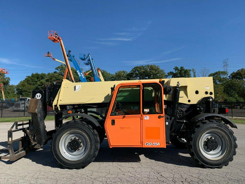 2010 JLG G12-55A 12000 LB DIESEL TELESCOPIC FORKLIFT TELEHANDLER PNEUMATIC 4WD ENCLOSED CAB 3180 HOURS STOCK # BF9351309-RIL
