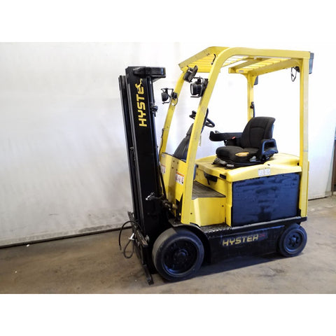 2010 HYSTER E50XM 5000 LB 36 VOLT ELECTRIC CUSHION 82/189 3 STAGE MAST 9125 HOURS STOCK # 20019-NCB